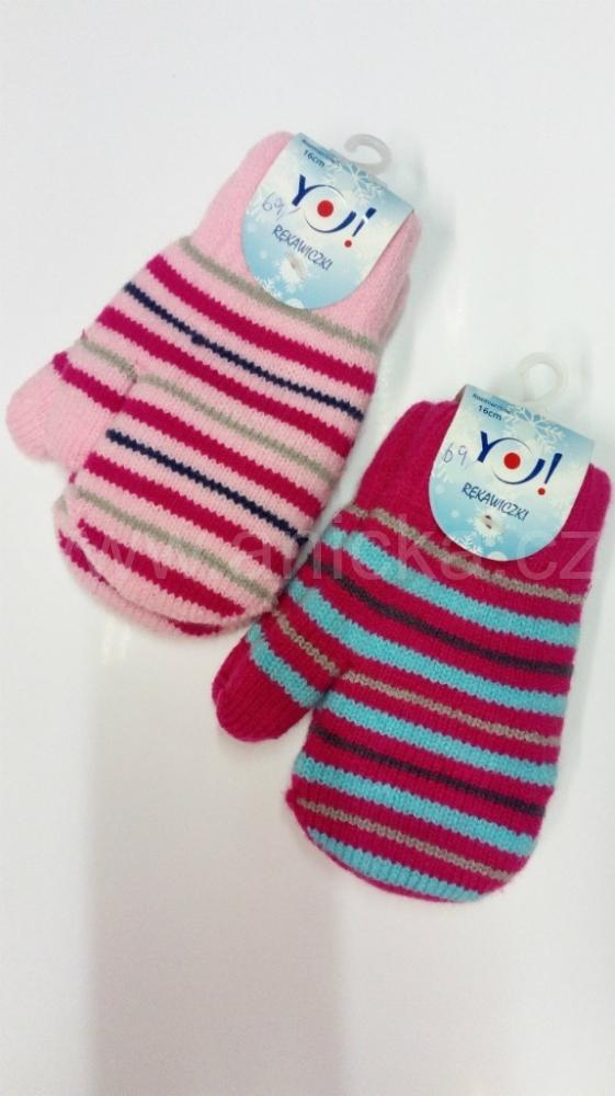 YO rukavice palčáky dvojité dívčí 3-6 roků e7446914da